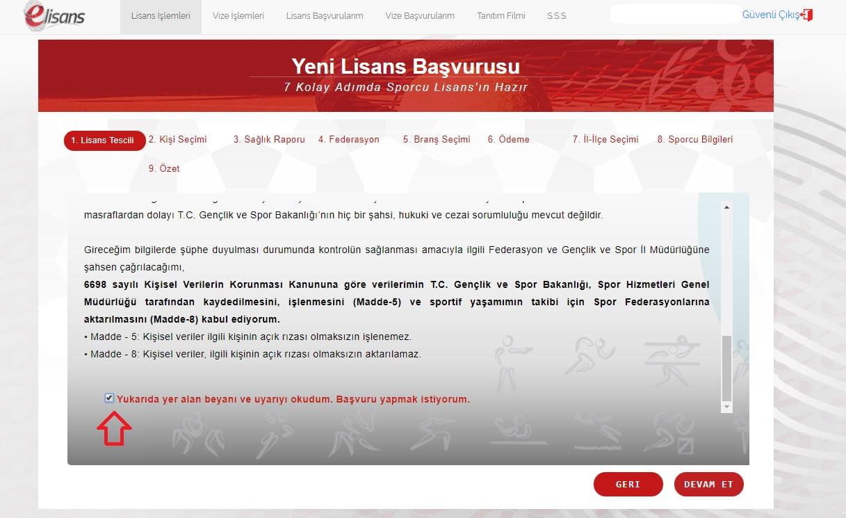 Sporcu Lisans İşlemleri E-Devlet Sisteminde - Yeni Lisans Başvurusu