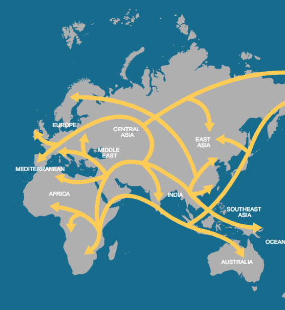 NG'e göre göç yolları