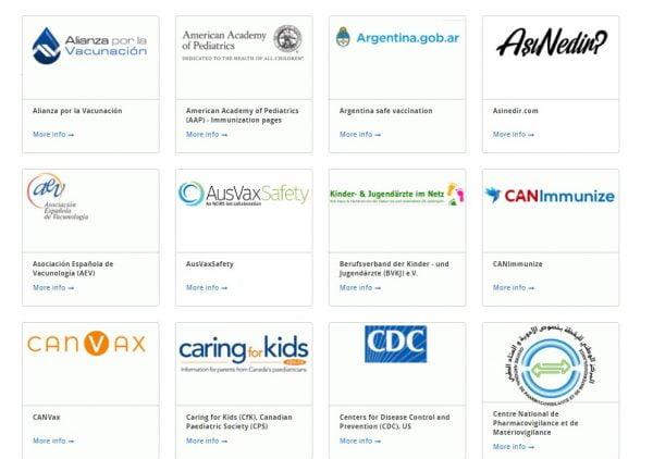 DSÖ Aşı Güvenliği Ağına üye sitelerden birkaçı