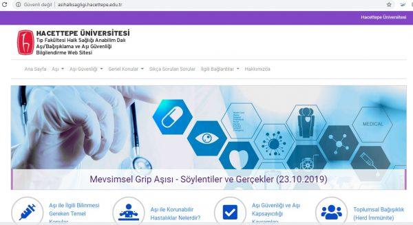 Hacettepe Üniversitesi Aşı/Bağışıklama ve Aşı Güvenliği Bilgilendirme Web Sitesi