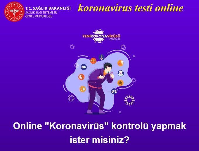 Koronavirüs testi online nedir nasıl yapılır