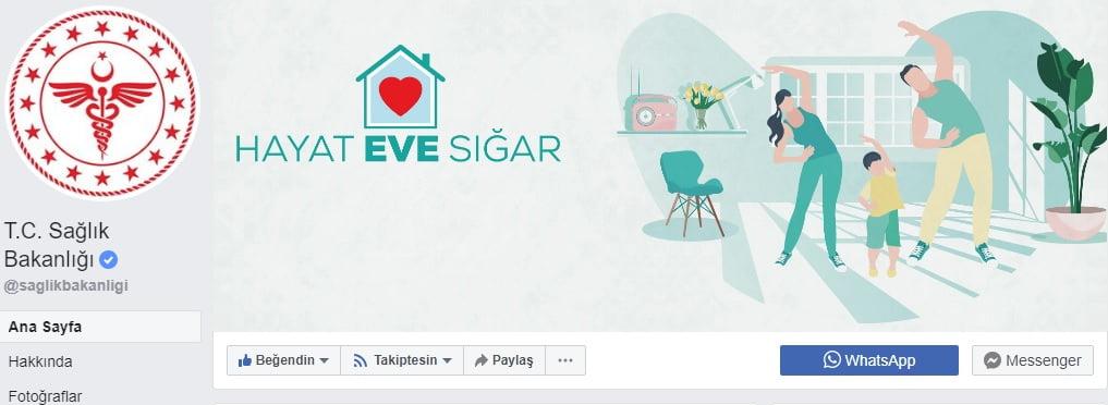 Sağlık Bakanlığı Facebook hesabı