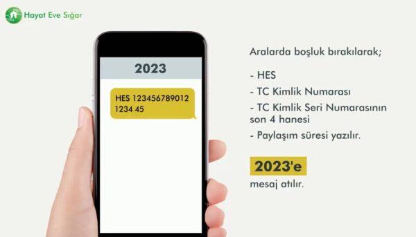 HES kodu, SMS (Kısa Mesaj) ile de alınabiliyor