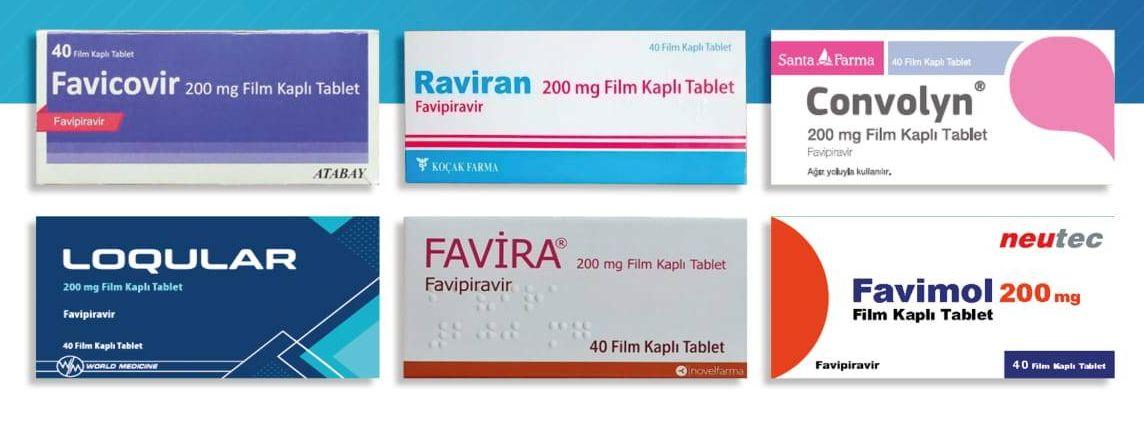 Favipiravir içeren ilaçlar