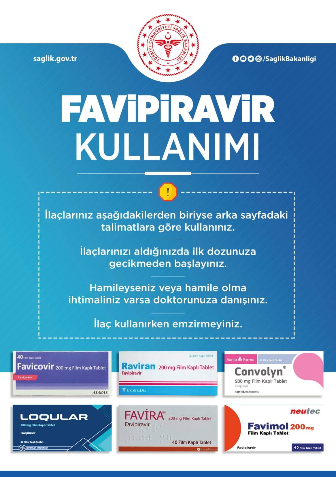 Favipiravir, Favicovir, Favira, Favimol, Raviran, Convolyn, Loqular nasıl kullanılır.