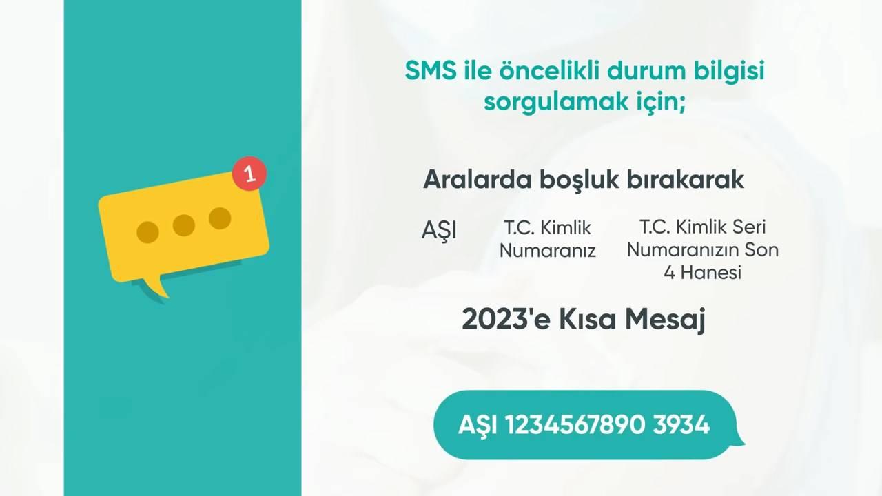 Kısa Mesaj (SMS) ile Koronavirüs aşısı için öncelikli grup sorgulama