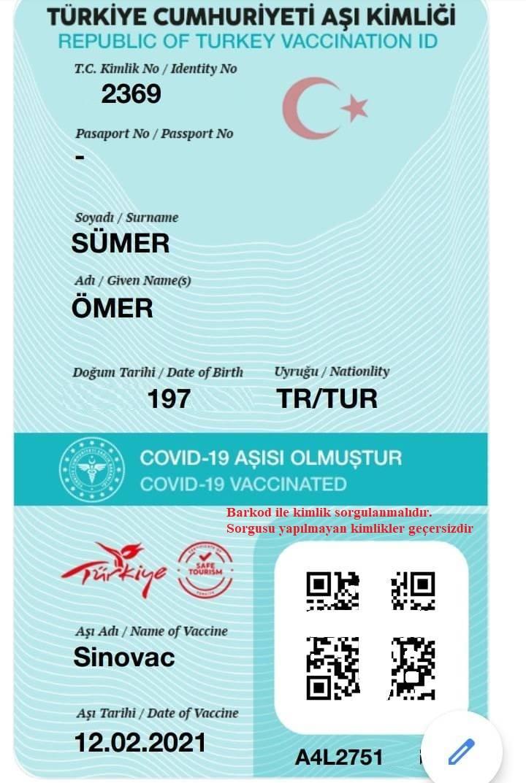 Türkiye Cumhuriyeti aşı kimliği nedir nasıl alınır