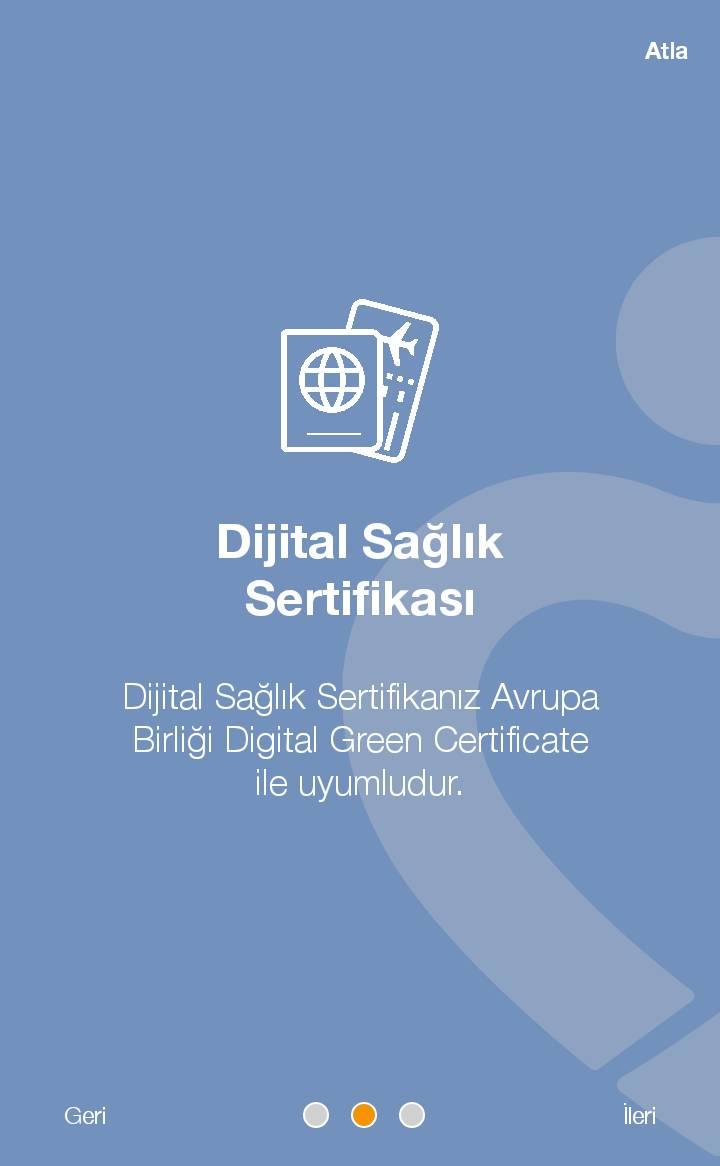 Dijital Sağlık Sertifikanız AB Dijital Green Certificate standardı ile uyumludur