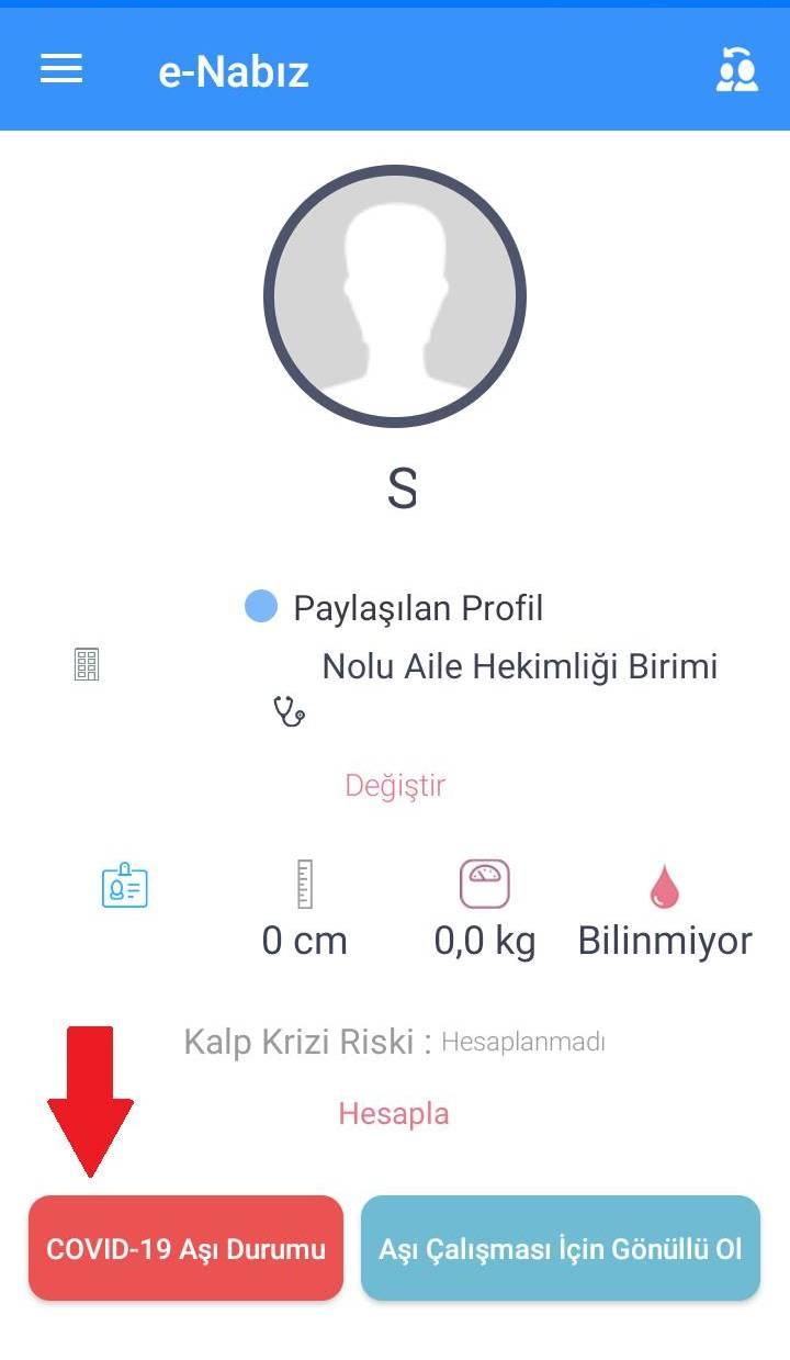 Çocuklar için Covid 19 aşı randevusu nasıl alınır  - E Nabız çocuk profili -Cep Telefonu